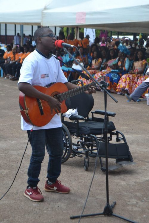 Sensitization through music on the need to educate children with disabilities