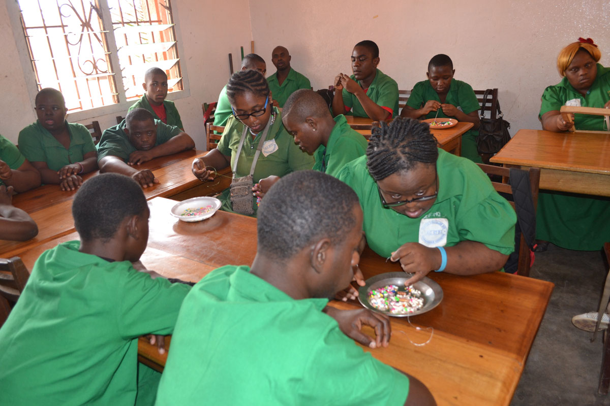 Training children with intelectual impairment to learn livelihood skills